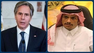 وزرای خارجه آمریکا و قطر تلفنی گفت و گو کردند