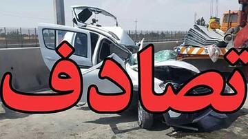 تصادف وحشتناک ۴ خودرو در زنجان/ آمار مصدومان اعلام شد