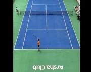 تصاویری از تنیس بازی کردن علی کریمی / فیلم