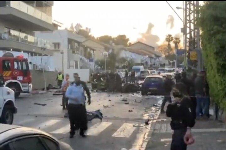 انفجار بمب در یک دستگاه خودرو در تلآویو / فیلم