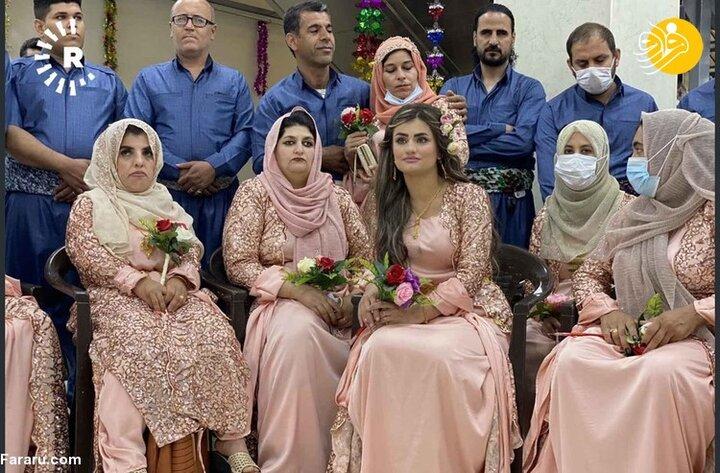گزارش تصویری از مراسم عروسی دسته جمعی زوج نابینا و ناشنوا