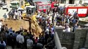 زنده زنده دفن شدن مرد سنندجی زیر آوار / فیلم