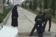 درگیری ماموران نیروی انتظامی با یک جانباز / فیلم