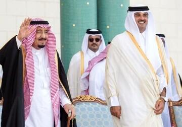 امیر قطر با پادشاه عربستان تلفنی گفت و گو کرد