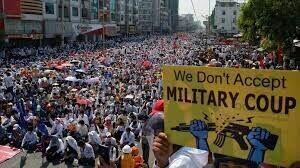 درخواست فعالان مدنی میانمار برای ادامه اعتراضات در این کشور