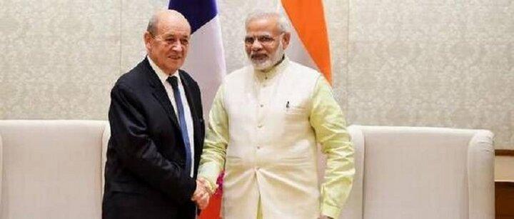 ورود وزیر امورخارجه فرانسه به هند