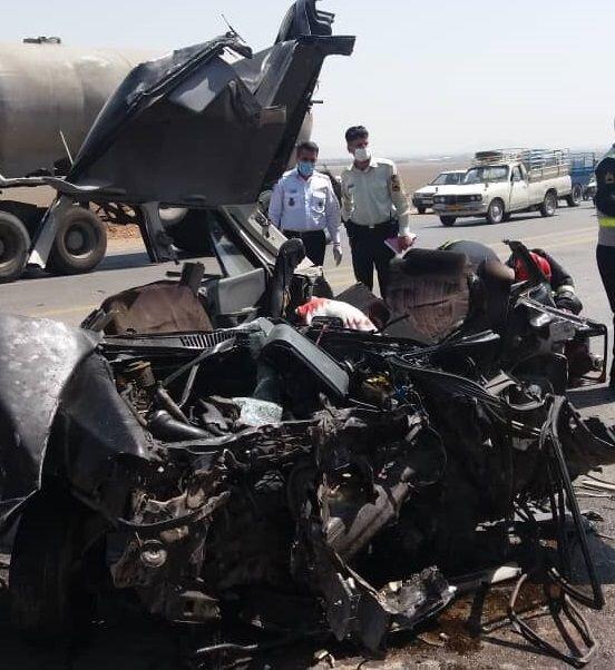 تصادف هولناک در اصفهان/ دو دختر جوان جان باختند + عکس