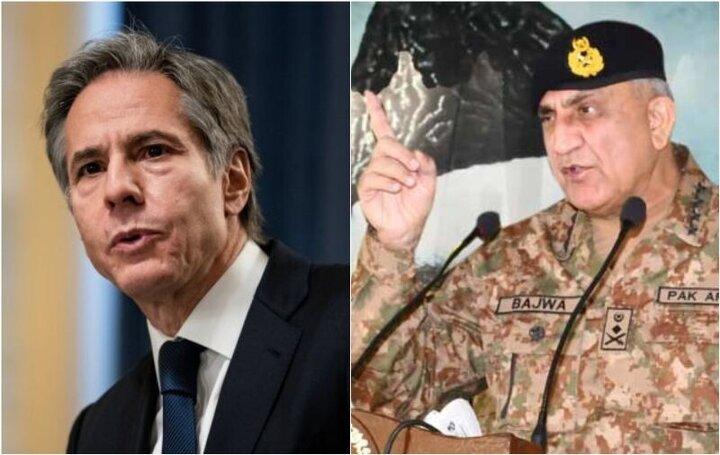 گفت و گوی تلفنی بلینکن با فرمانده ارتش پاکستان