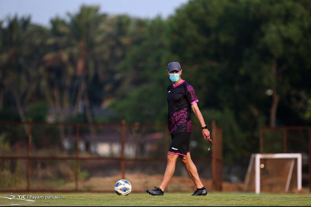 آخرین تمرین سرخپوشان پیش از بازی با الوحده - هند