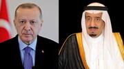 رجب طیب اردوغان با پادشاه عربستان تلفنی گفت و گو کرد