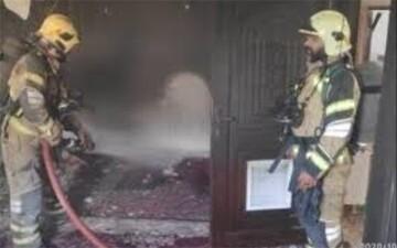آتش سوزی انبار بیمارستان در خیابان ستارخان تهران