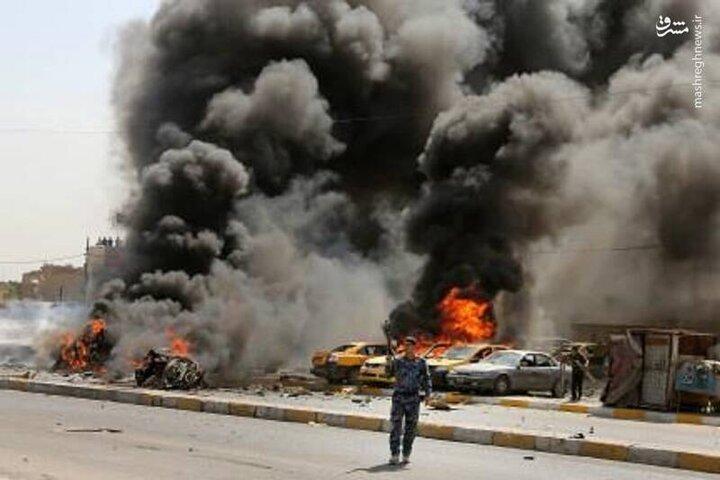 نخستین تصاویر از انفجار خونین و مرگبار امروز در بغداد / فیلم