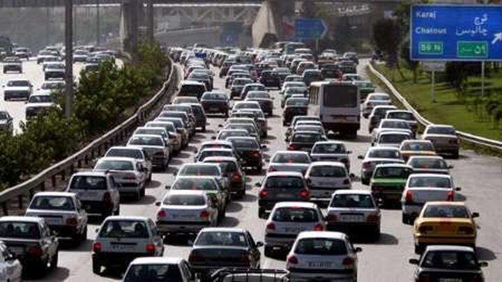 ترافیک شدید در آزادراه کرج-تهران