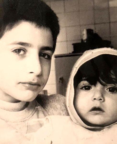 عکس/کودکی های باران کوثری و برادرش