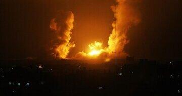 رژیم صهیونیستی به غزه حمله کرد