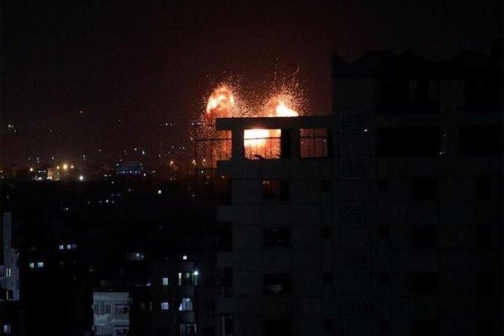 حمله جنگندههای رژیم صهیونیستی به نوار غزه / فیلم
