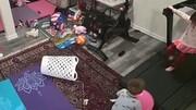 اتفاق هولناک برای یک کودک هنگام بازی با تردمیل/ فیلم