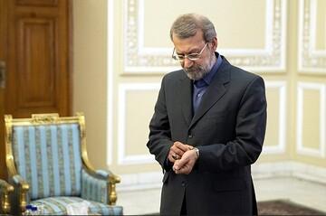 علی لاریجانی در مراسم تنفیذ ریاستجمهوری / عکس