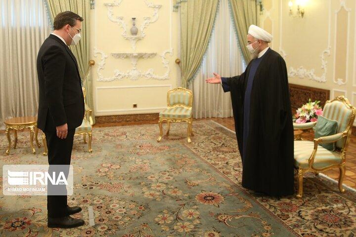 دیدار وزیر امور خارجه صربستان با حسن روحانی