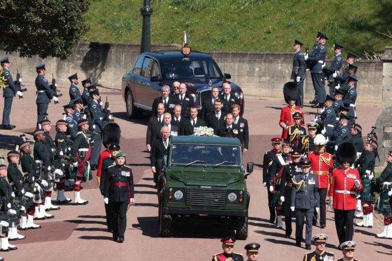 مراسم خاکسپاری همسر ملکه انگلیس / تصاویر
