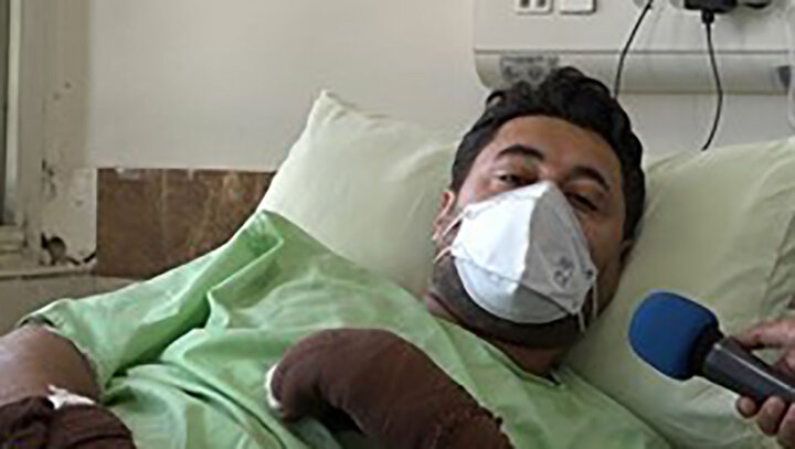 ماجرای پلیس فداکار تاکستانی که در آتش سوخت/ عکس