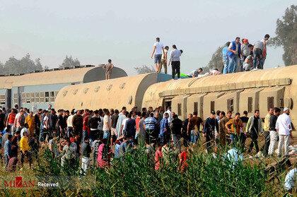 گزارش تصویری از خارج شدن قطار از ریل در یونان