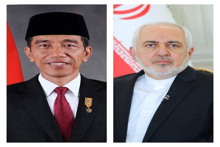 دیدار ظریف با رییس جمهور اندونزی
