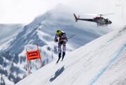 فرود عجیب کوهنورد از کوه صعب العبور با اسکی / فیلم