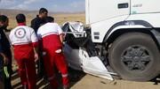 تصادف لیفان با کامیون در تهران کشته داد