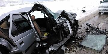 تصادف مرگبار پراید و پژو در اردبیل/ عکس