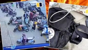 سوختن مرد جوان براثر آتش گرفتن تلفن همراه / فیلم