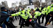تظاهرات علیه محدودیتهای کرونایی در لندن