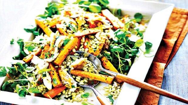دستور پخت خوراک هویج و گندم برای افطار ماه رمضان