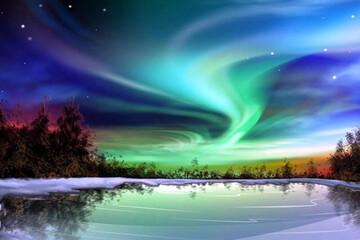 نمایی دیدنی از شفق قطبی در آلاسکا / فیلم