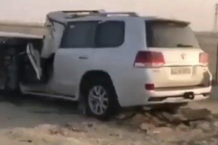 تصادف شدید لندکروز با تریلی / فیلم