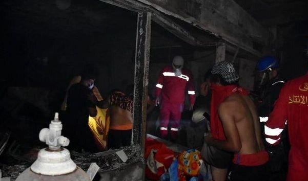 افزایش آمار قربانیان حادثه بیمارستان ابنالخطیب بغداد به ۸۲ نفر