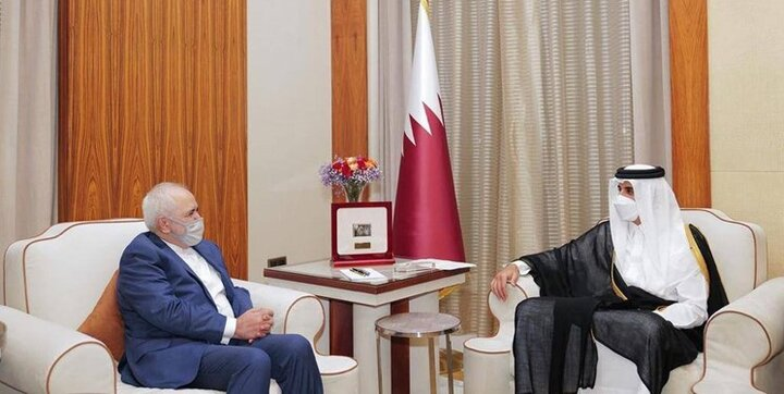 ظریف با امیر قطر دیدار کرد