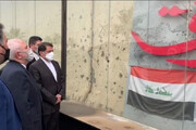 حضور ظریف در محل شهادت حاج قاسم سلیمانی در عراق / فیلم