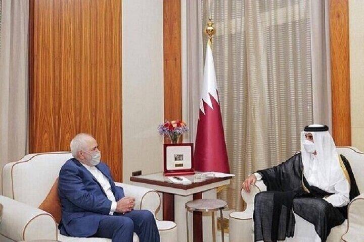 تاکید امیر قطر بر اهمیت گسترش روابط با ایران