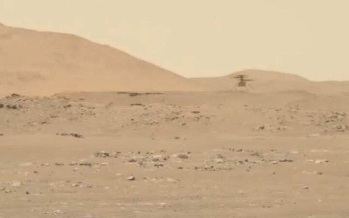 سومین پرواز موفق هلیکوپتر مریخی «نبوغ» / فیلم