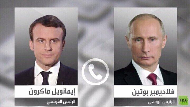 گفتگوی تلفنی ماکرون با پوتین درباره وضعیت ناوالنی