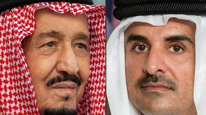 پادشاه عربستان از امیر قطر برای سفر به ریاض دعوت کرد