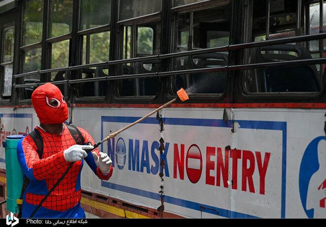 ضدعغونی کردن شهر بمبئی توسط مرد عنکبوتی/ تصاویر