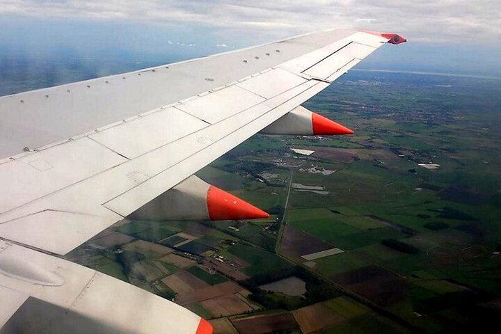 تلاش جالب پرنده برای نشستن روی بال هواپیمای در حال پرواز / فیلم
