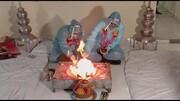 برگزاری مراسم عجیب عروسی داماد مبتلا به کرونا / فیلم