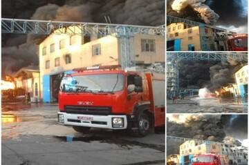آتش سوزی در قم مهار شد / اعلام وضعیت بحرانی و درخواست کمک از شهرداری، سازمان آب و سپاه