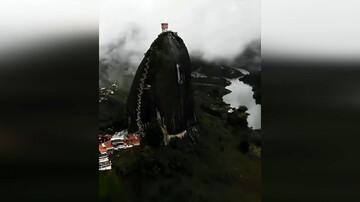 عظیمترین صخره  جهان با وزن ۱۰ میلیون تُن / فیلم
