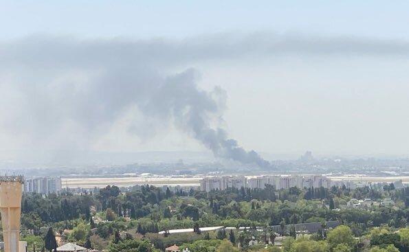 اطراف فرودگاه بن گوریون در اراضی اشغالی آتش گرفت