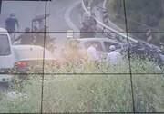 نقص سیستم ترمز کامیونت در بزرگراه مدرس حادثه آفرید / عکس