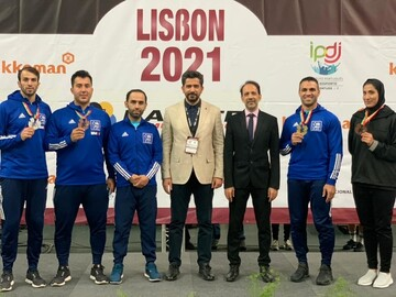 پایان کار کاراته کاران ایران در لیسبون با کسب ۴ مدال